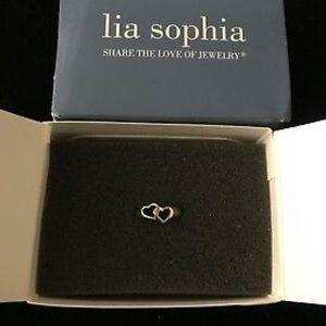 "Lia Sophia ""Romeo"" Silver Tone Ring"